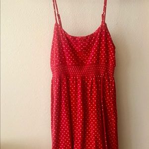 Forever 21 Classic Red and White Polka Dot Dress